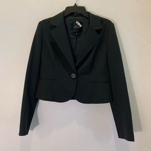 Robert Rodriguez | notch lapel cropped blazer